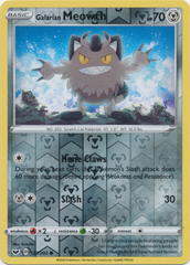 Galarian Meowth - 127/202 - Common - Reverse Holo