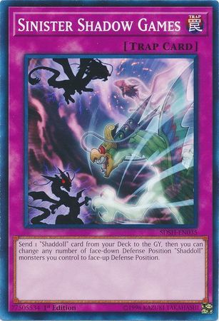 Sinister Shadow Games - SDSH-EN035 - Common - 1st Edition