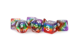 Rainbow (Translucent) 16mm Poly Dice Set