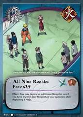 All Nine Rookies Face Off - M-063 - Uncommon - 1st Edition - Foil