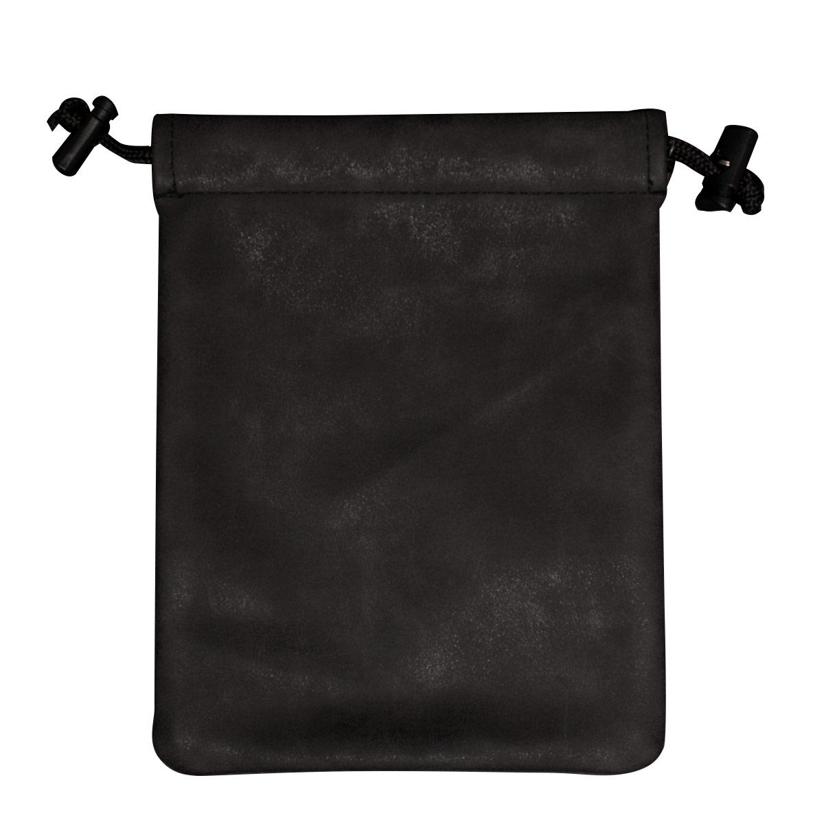 Suede Collection Treasure Nest Jet Black Dice Accessories Bag