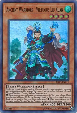 Ancient Warriors - Virtuous Liu Xuan - IGAS-EN011 - Ultra Rare - Unlimited Edition