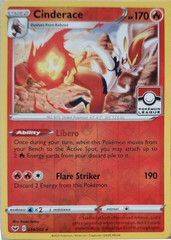 Cinderace - 034/202 - Reverse Holo - Pokemon League Promo
