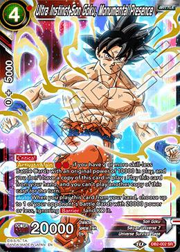 Ultra Instinct Son Goku, Monumental Presence - DB2-002 - SR