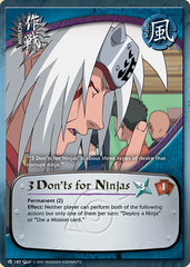 3 Don'ts for Ninjas - M-187 - Common - 1st Edition - Wavy Foil