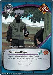 Admonition - M-216 - Uncommon - 1st Edition - Diamond Foil