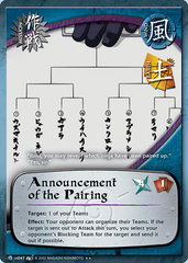 Announcement of the Pairing - M-US047 - Rare - Unlimited Edition
