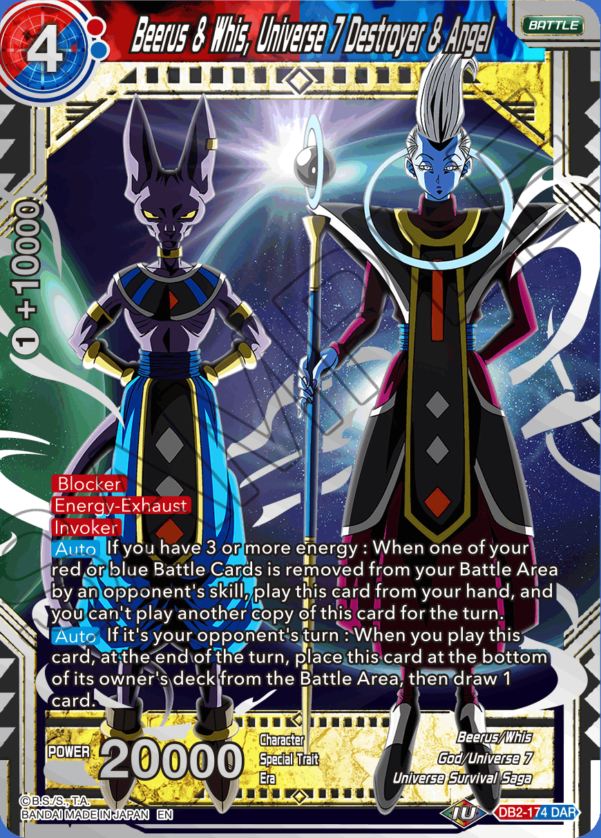 Beerus & Whis, Universe 7 Destroyer & Angel - DB2-174 - DAR - Foil