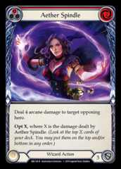 Aether Spindle (Red) - Rainbow Foil - 1st Edition
