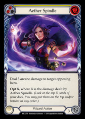 Aether Spindle (Yellow) - Rainbow Foil - 1st Edition