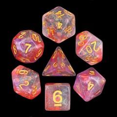 HD Polyhedral 7 Dice Set Luminous Ruby