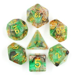 HD Polyhedral 7 Dice Set Evil Spell