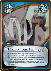 Prelude to an End - M-498 - Uncommon - 1st Edition - Foil