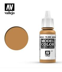 VAL70860 Vallejo Model Color Medium Flesh Tone 17ml (021)