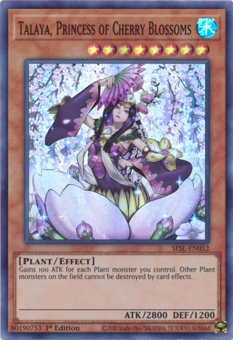 Talaya, Princess of Cherry Blossoms - SESL-EN052 - Super Rare - 1st Edition