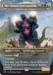 Brokkos, Apex of Forever - Foil - Bio-Quartz Spacegodzilla