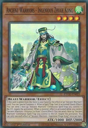 Ancient Warriors - Ingenious Zhuge Kong - ETCO-EN023 - Super Rare - 1st Edition