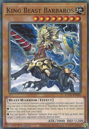 King Beast Barbaros - ETCO-EN030 - Common - 1st Edition