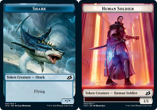 Shark Token // Human Soldier Token (005) - Foil