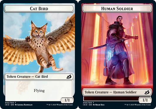 Cat Bird Token // Human Soldier Token (005) - Foil