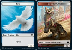 Bird Token // Dinosaur Cat Token on Channel Fireball