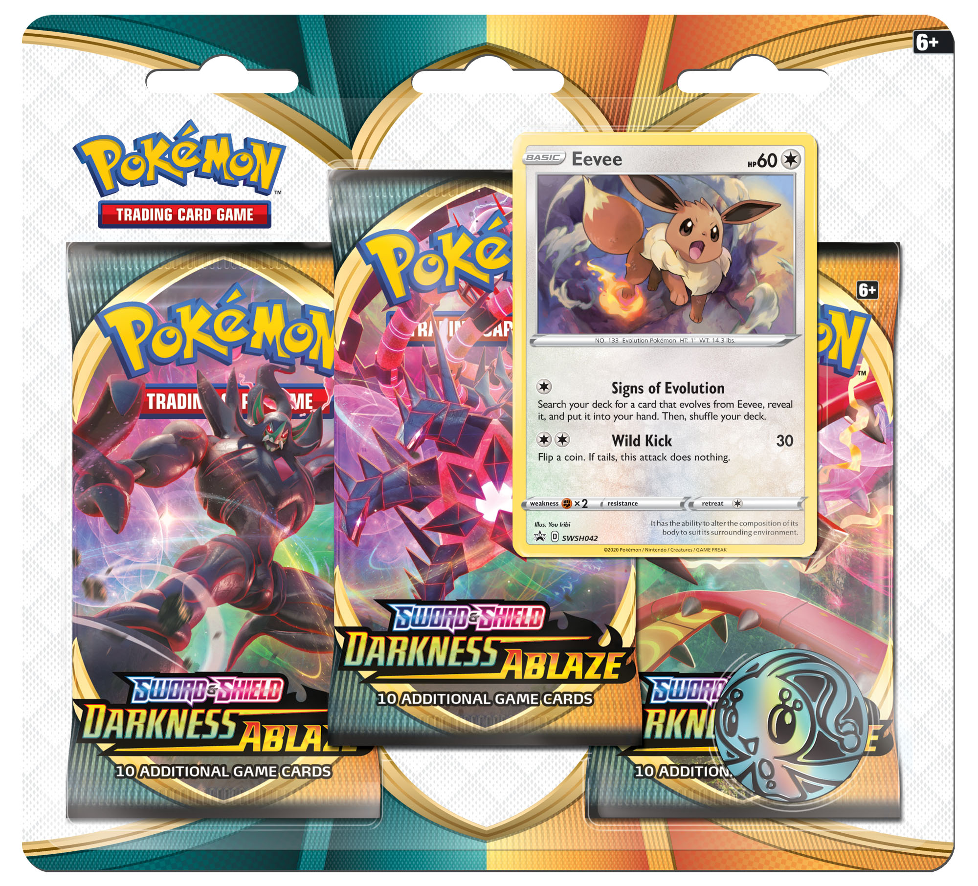 Sword & Shield - Darkness Ablaze 3 Pack Blister - Eevee