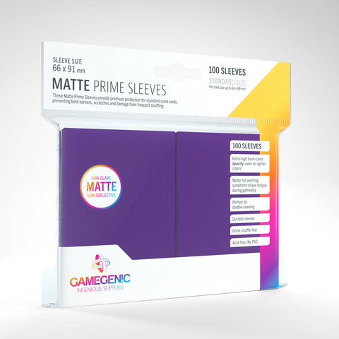 Gamegenic - Sleeves: Gamegenic Matte Prime Sleeves - Purple (100)