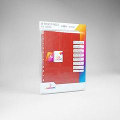 Gamegenic - 18 - Pocket Pages Side Loading - Red - (10 pages bag)