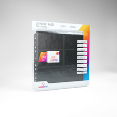 Gamegenic - 24 - Pocket Pages Side Loading - Black - (10 pages bag)