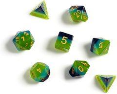 Dice Set - Green Blue