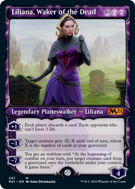 Liliana, Waker of the Dead - Foil - Showcase