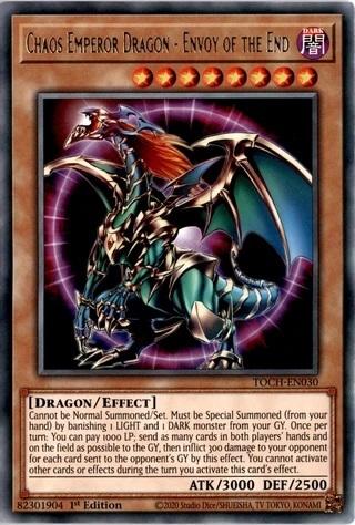 Chaos Emperor Dragon - Envoy of the End - TOCH-EN030 - Rare - 1st Edition