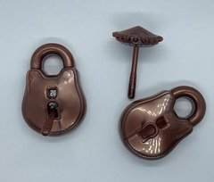 Polyhero Dice: D20 Lock and Pick - Stout Bronze and Ward White