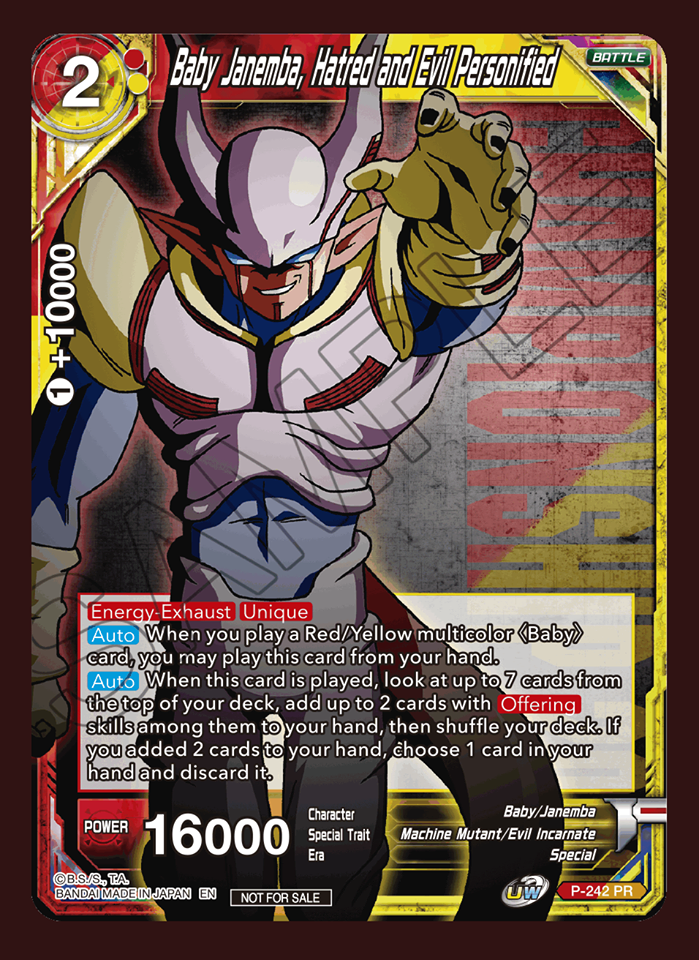 Baby Janemba, Hatred and Evil personified (Championship Pack 2020 Vol. 2) - P-242 - PR