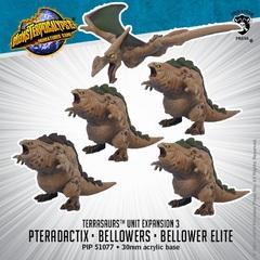 Terrasaurs - Pteradactix, Belllowers & Bellower Elite - PIP51077 - 30mm acrylis base