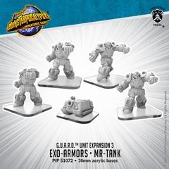 G.U.A.R.D. - Exo-Armors & Mr-Tank - PIP51072 - 30mm acrylic bases