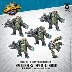 Empire of the Apes - Ape Gunners & Ape Infiltrator - PIP51032 - 30mm acrylic bases