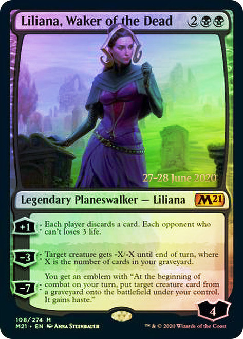 Liliana, Waker of the Dead - Foil - Prerelease Promo