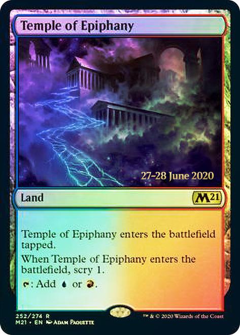 Temple of Epiphany - Foil - Core Set 2021 Prerelease Promo
