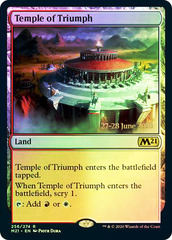Temple of Triumph - Foil - Core Set 2021 Prerelease Promo