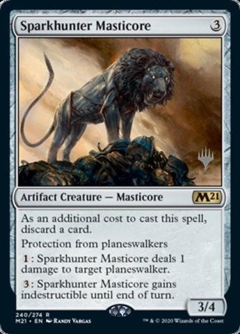 Sparkhunter Masticore - Foil - Promo Pack - Magic Singles ...