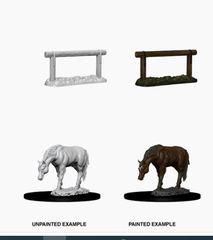 Nolzur's Marvelous Miniatures - Horse & Hitch