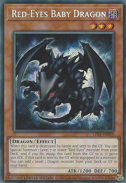 Red-Eyes Baby Dragon - LDS1-EN010 - Secret Rare - Limited Edition