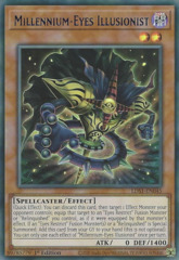 Millennium-Eyes Illusionist (Blue) - LDS1-EN045 - Ultra Rare - 1st Edition