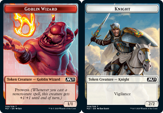 Goblin Wizard Token // Knight Token - Foil