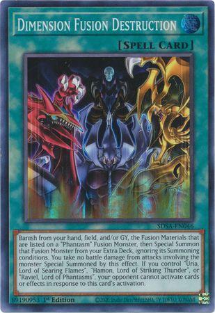 Dimension Fusion Destruction - SDSA-EN046 - Super Rare - 1st Edition