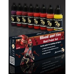 Scale75 - Scalecolor Range - Blood and Fire Red Paint Set - SSE-005 - Paint Set