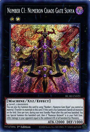 Number C1: Numeron Chaos Gate Sunya - BLAR-EN021 - Secret Rare - 1st Edition