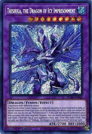 Trishula, the Dragon of Icy Imprisonment - BLAR-EN048 - Secret Rare - 1st Edition