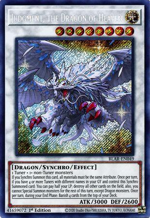 Judgment, the Dragon of Heaven - BLAR-EN049 - Secret Rare - 1st Edition
